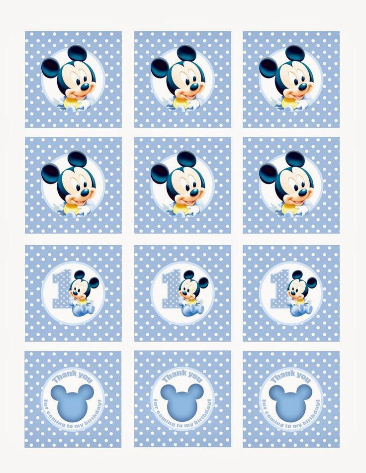 mickey mouse cupcake toppers free