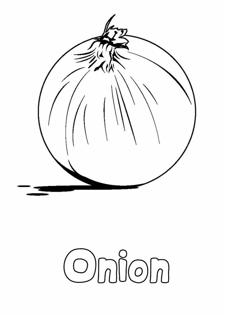 Onion Vegetable Coloring Pages