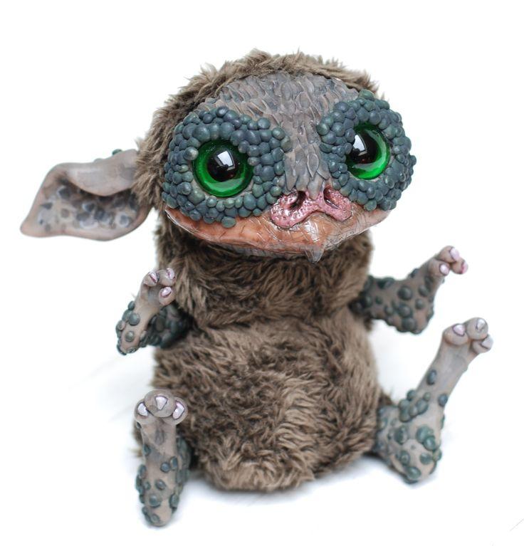 200$ + shipping, Creature made by chercheto, art doll ooak