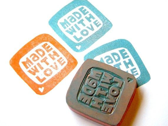 Handmade stamp. Love.