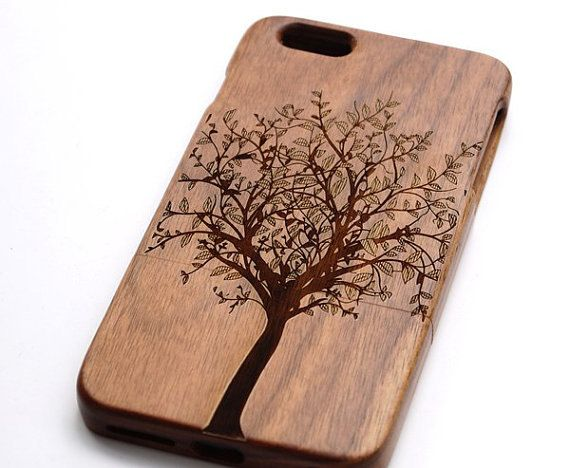 Tree Style Real Wood iPhone 6/6Plus Case ,wood iPhone 5/5s case ,Samsung Galaxy S5 case,Note4 case -Engraved case,bamboo iPhone case,Gift