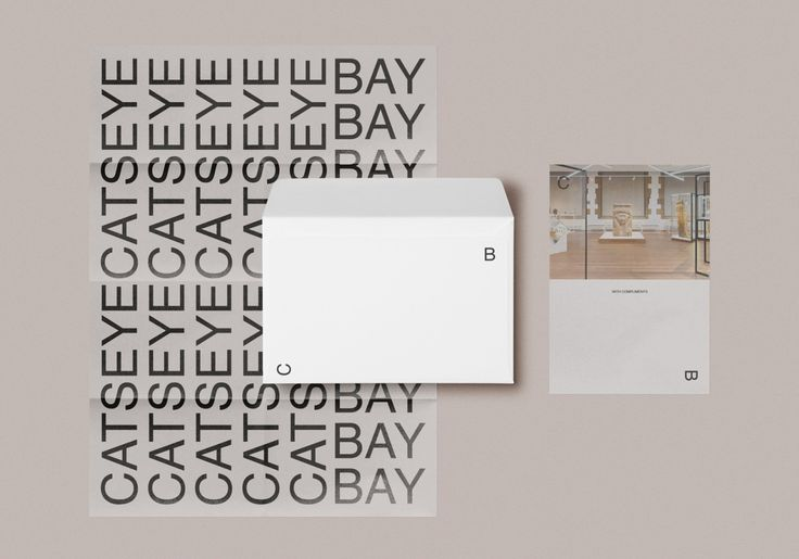 "Catseye Bay Identity by SP-GD ""Catseye Bay is a Sydney based spatial design studio. They have worked with such clients as Sydney University Museums, Object Australian Design Centre, Victorian Eco Innovation Laboratory, University of Technology Sydney..."