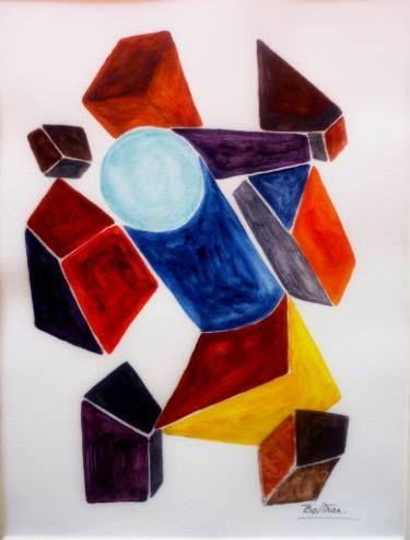 "Saatchi Art Artist Pierre-Yves Beltran; Painting, ""mécanique orange"" #art"