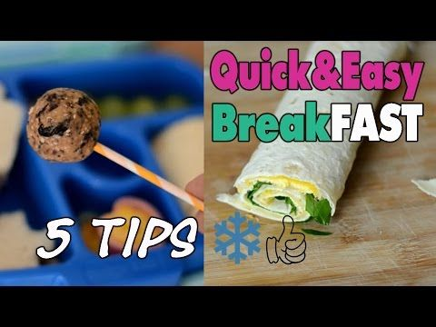 5 Quick and easy breakFAST recipes you can freeze | mamiblock kiDchen - YouTube