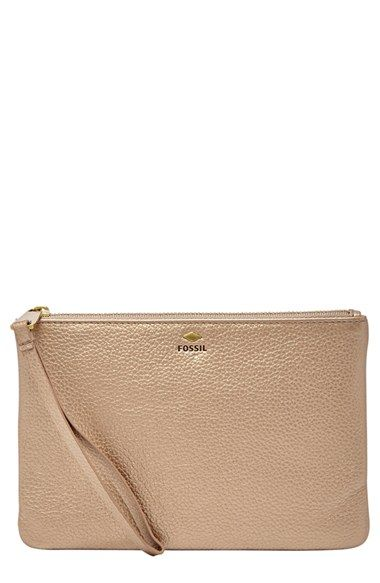 Fossil Small Zip Top Wristlet available at #Nordstrom