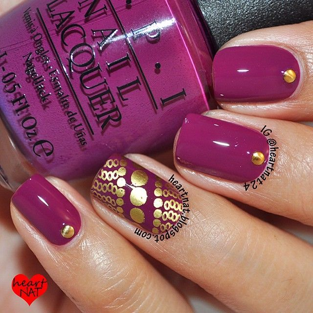 245 best nail art rhinestones studs images on pinterest gems beautiful autumswinter manicure with gold accents nailart manicure nails naildesign prinsesfo Image collections