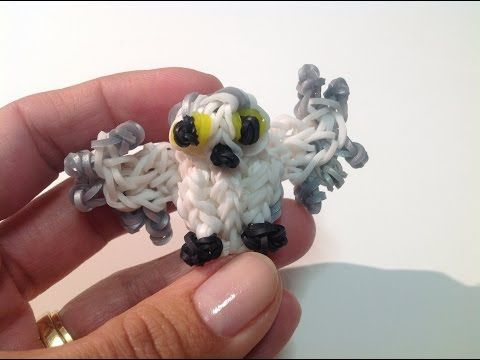 Rainbow Loom Nederlands, 3d sneeuwuil (Harry Potter uil, Hedwig :-) - YouTube