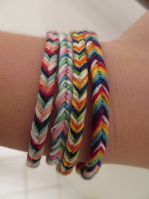Fishtail friendship bracelets