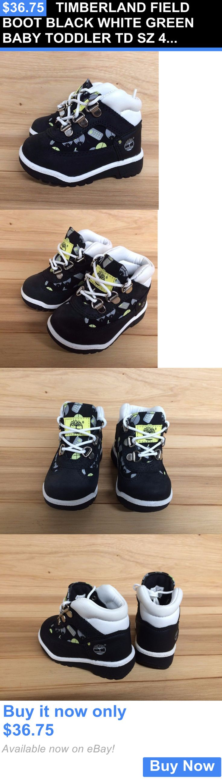 Infant Shoes: Timberland Field Boot Black White Green Baby Toddler Td Sz 4-12 25872 L BUY IT NOW ONLY: $36.75