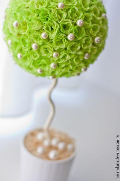 Топиарий Денежное дерево. - зелёный,топиарий,топиарий дерево счастья,Топиарии