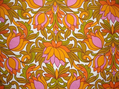 1960s. pattern.70S Pattern, 1960 70 Vintage Fabrics, Fabrics 1960S, 1960S Tulip, Tulip Fabrics, 1960S Pattern, 1960S Fashions, Psychedelic 1960S, 1960 S