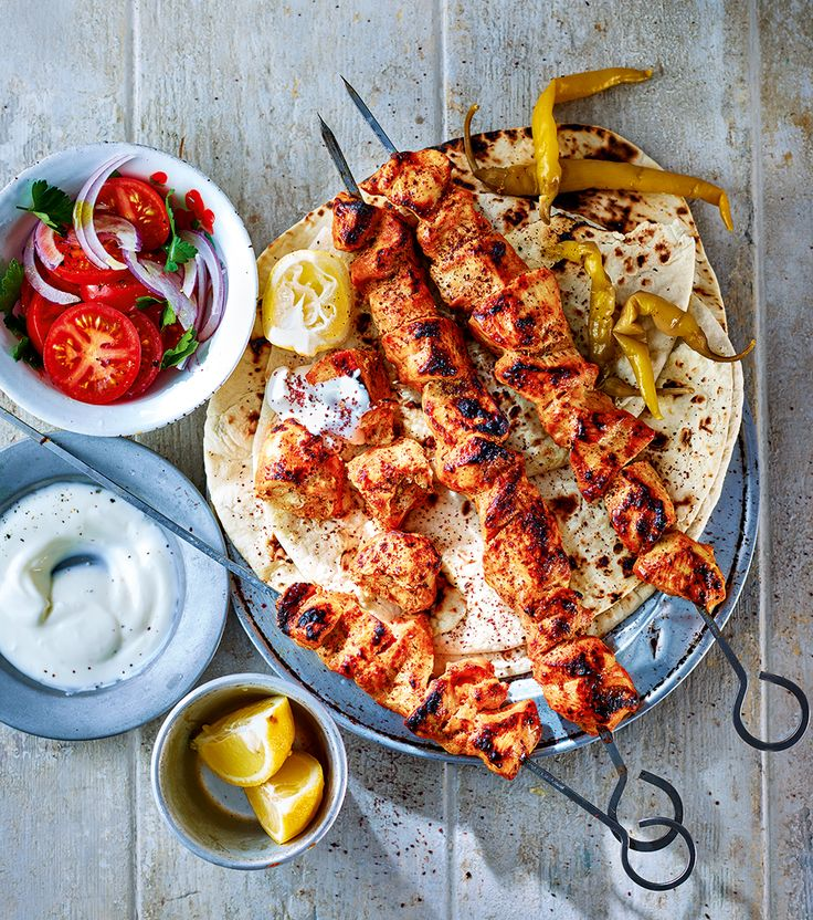 Turkish Shish Kabob - Marinated meat, spices, sharp pickles and citrus, offset with a hint of smokiness… The chicken shish is hold-me-back good.