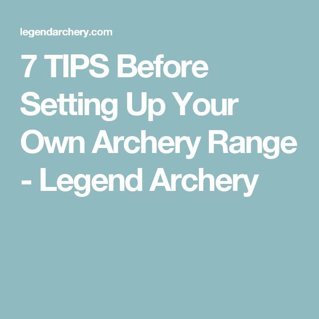 Setting Up Backyard Archery Range : + ideas about Archery Range on Pinterest  Shooting Targets, Archery