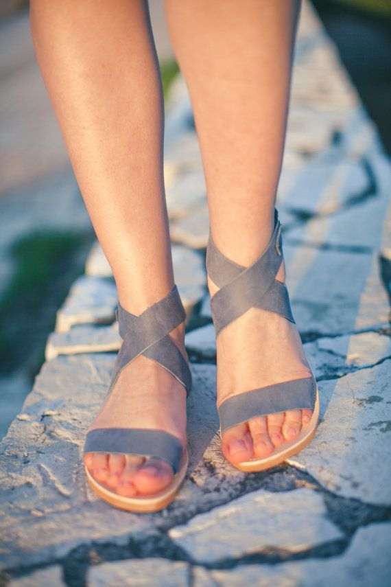 amethyst collection/ blue /aelia greek sandals by aeliasandals