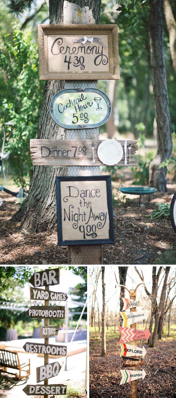Carteles para decorar tu boda