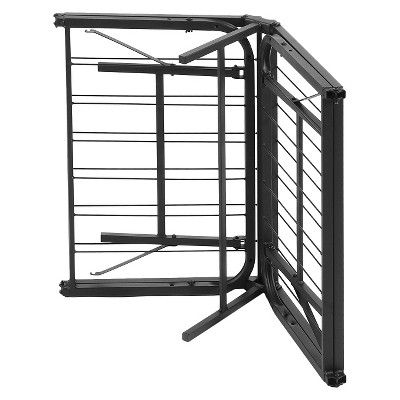 Simple Base Quad-Fold Bed Frame (Queen), Black