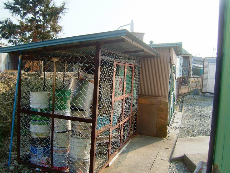 諸井赤道上にある障害物、自治会所属の物置2個