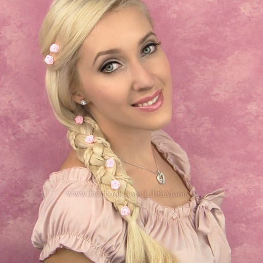 Rapunzel Braid And Makeup From Tutorial Http://www.youtube