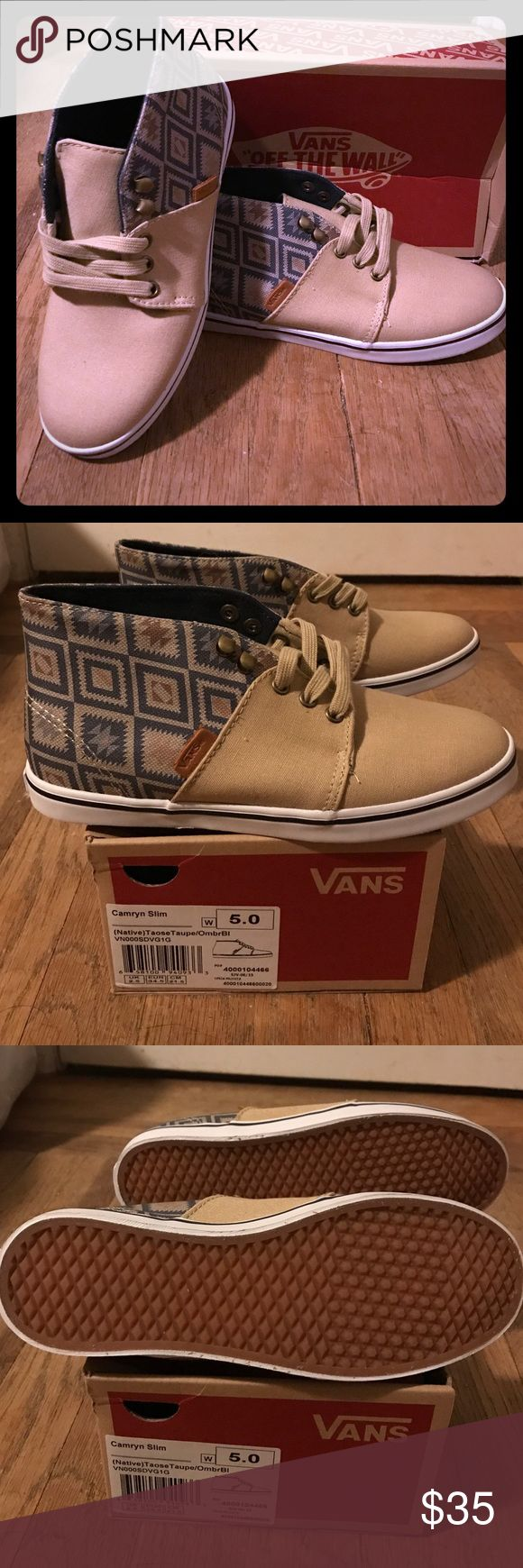 NWIB Vans booties ❤️🎶😄 Brand new in box. Cute casual booties buy Vans. I have a shopping problem and buy things I don't need. My loss your gain lol. Brand new! Very cute and stylish. 😄❤️ Vans Shoes Lace Up Boots
