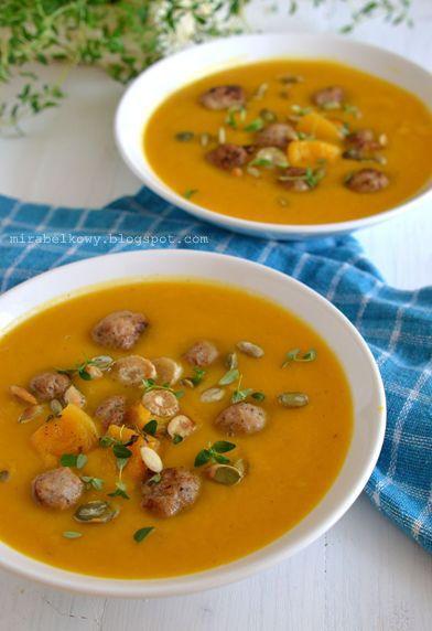 Zupa dyniowo-pietruszkowa z klopsikami