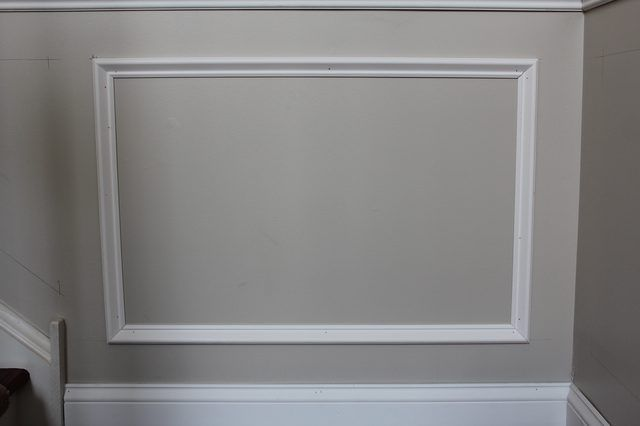 How To Add Molding Squares To A Wall Wainscoting Dining