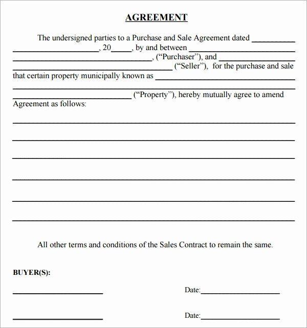 Sales Agreement Template Free Luxury Simple Sales Agreement Purchase Agreement Contract Template Agreement