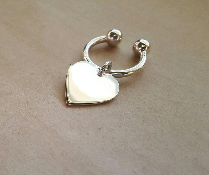Keychain - BIG HEART - Sterling Silver