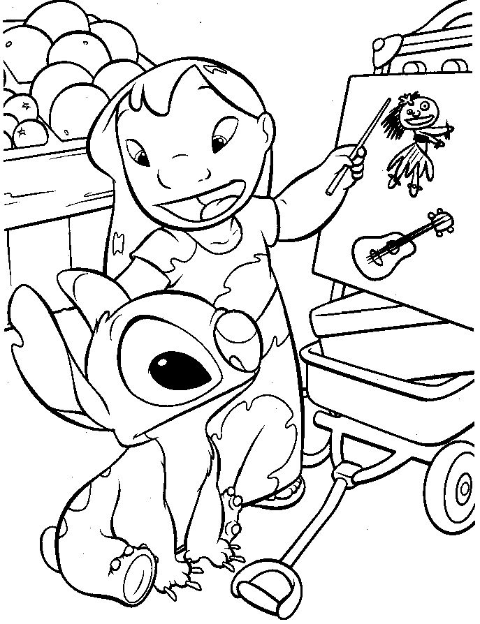 lilo and stitch draw coloring pages for kids printable lilo stitch coloring pages for kids