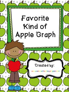 This packet includes everything you need to graph your students' favorite kind of apples. The teacher needs to make a large graph. Each of the students chooses a picture of his/her favorite kind of apple. Then the students create a large graph. There is a graph included for the students to make individual graphs to replicate the class graph.