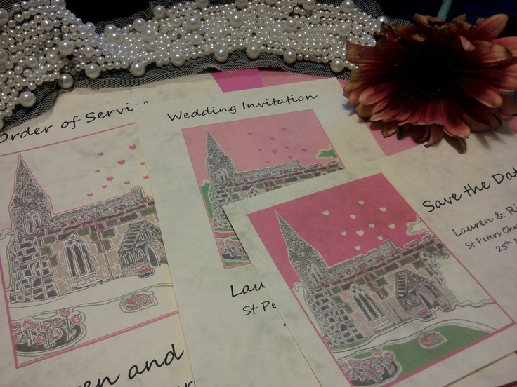 pink wedding theme stationery  http://montymanatee-weddings.com/wp-content/ad-images/2012/03/new-stationery-pics-16.jpg