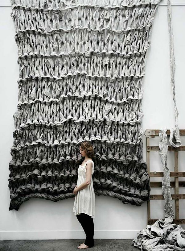 amazing oversized knitting! more textile inspirations at jojotastic.com