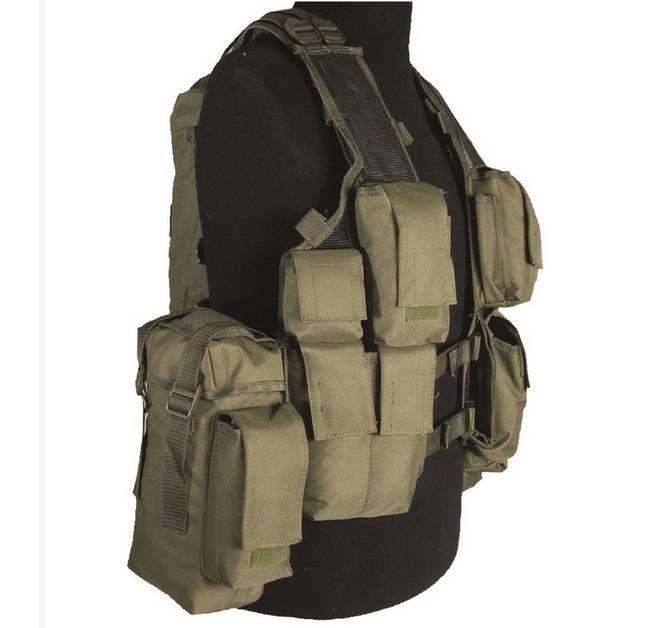 Mil-Tec Einsatzweste Tactical, 12-Taschen, oliv / mehr Infos auf: www.Guntia-Militaria-Shop.de