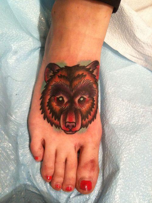 bear tattoo | Tumblr