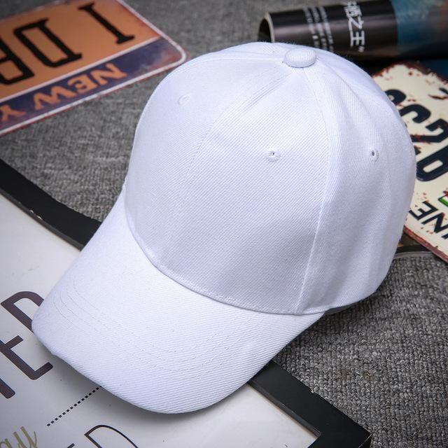 7edd0678273 Black Adult Unisex Casual Solid Adjustable Baseball Caps Snapback Hats For Men  Baseball Cap Women Men White Baseball Cap Hat Cap