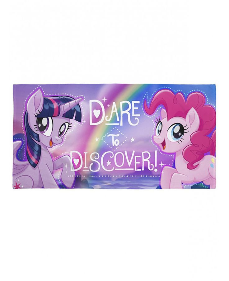 This My Little Pony Movie Beach Towel is ideal for use at the beach, pool or at home and features Twilight Sparkle and Pinkie Pie. Free UK delivery available