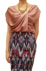 Twist Front Top and ikat tenun