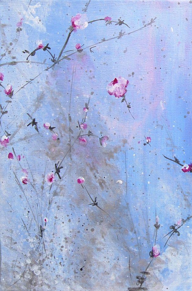 Acrylmalerei auf Leinwand bespannter Keilrahmen 2 x 20x30 cm