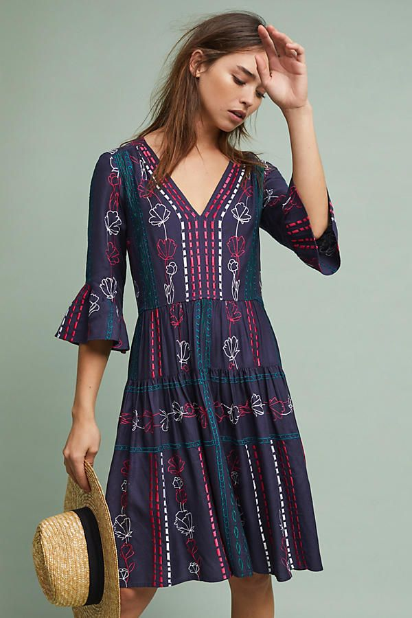 Slide View: 1: Hailey Embroidered Dress