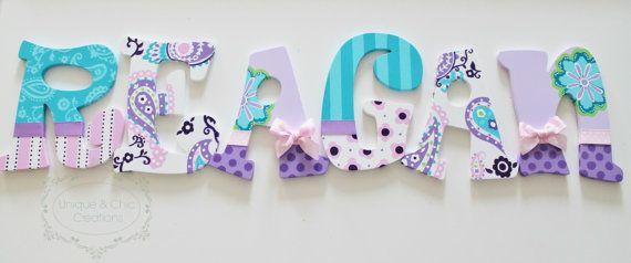 Lavanda púrpura Aqua y rosa Paisley Brooklyn por KraftinMommy