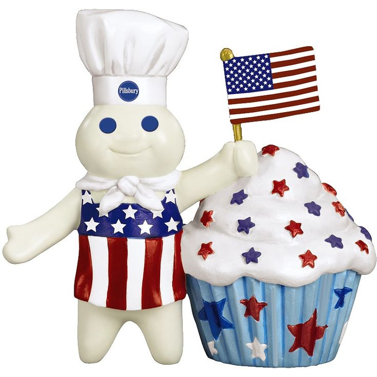 illsbury Doughboy Holiday Cupcakes - July 4