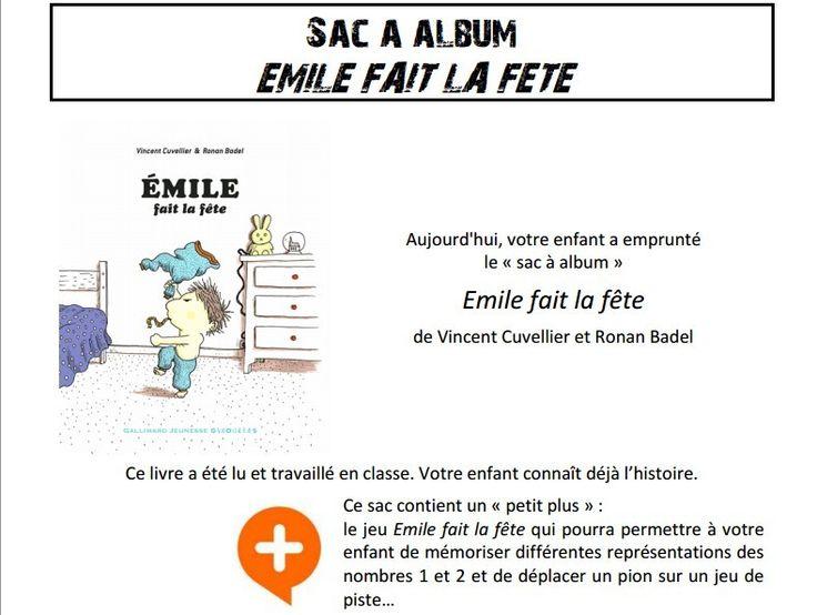 Sac à album Emile fait la fête chez Pierrick