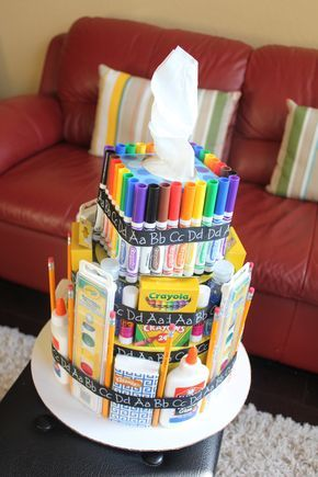 Scraps of Shirlee: school supply cake teacher appreciation gift