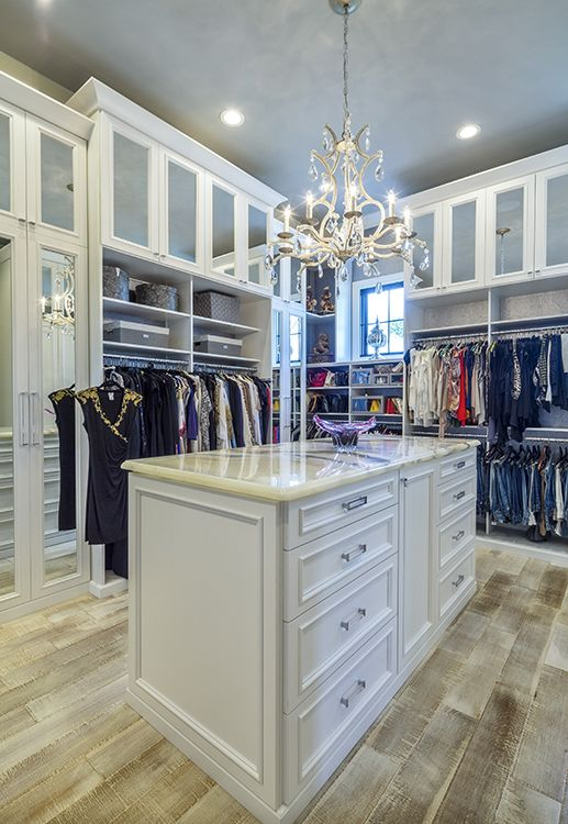 this extra tall custom closet organizer by closetfactory maximizes the height of the walk - Custom Closet Design Ideas