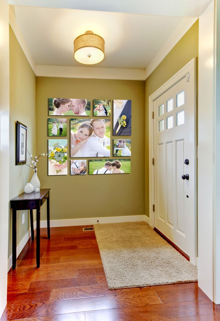 """Brighten their entry with our Rivera Canvas Grouping comprised of 1 - 20""""x20"""", 4 - 10""""x20""""s, and 4- 10""""x10""""s 