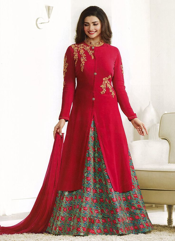 Buy Prachi Desai Red Georgette Umbrella lehenga online from the wide collection of umbrella-lehenga.  This Red colored umbrella-lehenga in Faux Georgette fabric goes well with any occasion. Shop online Designer umbrella-lehenga from cbazaar at the lowest price.