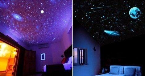 Crea en tu techo una noche con cielo estrellado y vive la romántica sensación de estar durmiendo al aire libre.