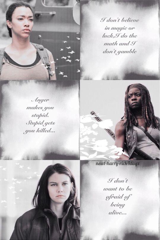 Women of The Walking Dead collage