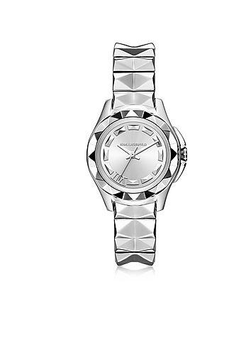 Karl+Lagerfeld+Karl+7+-+30+мм+Женские+Часы+из+Нержавеющей+Стали+с+Напылением+Серебра