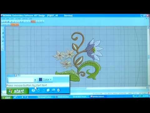 20/21 BERNINA 830 sewing machine video instructions: ArtDesign embroidery software