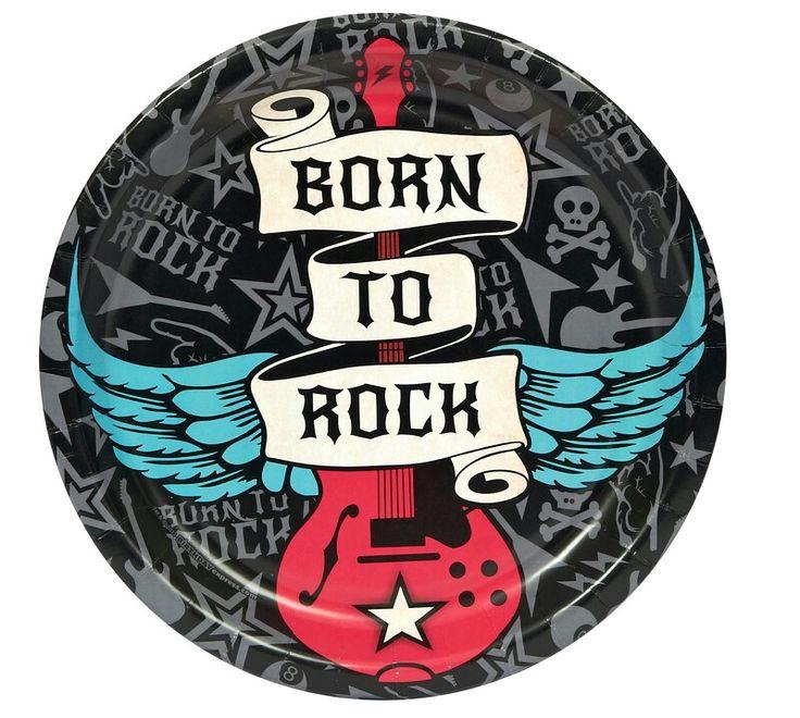 Открытка на день рождения в стиле рок